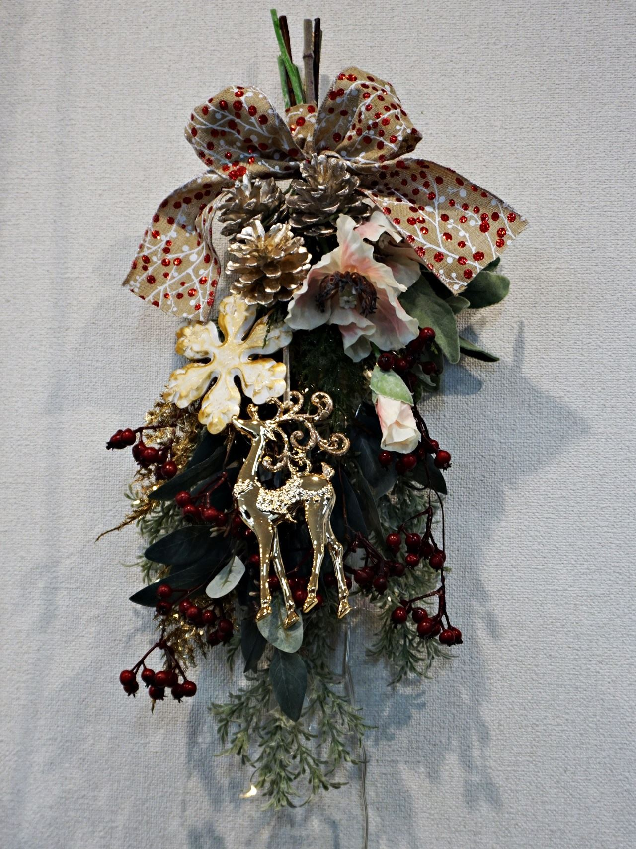 【日比谷花壇】クリスマス アーティフィシャルスワッグ「アーブル」