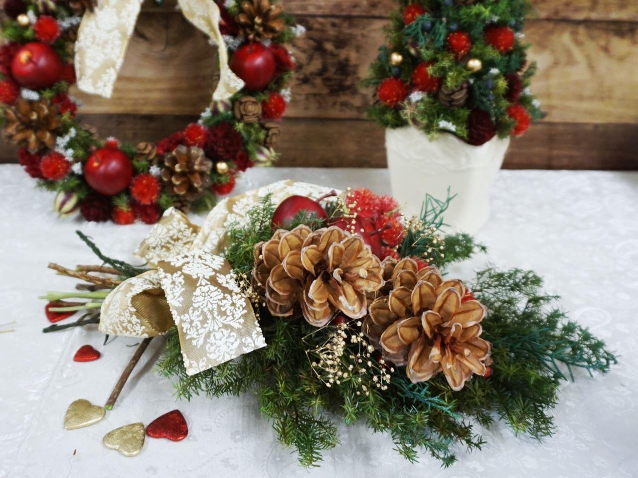 クリスマス「スワッグ ド ルージュ」「ツリー ド ルージュ」「リース ド ルージュ」